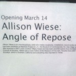 Allison Wiese: Angle of Repose