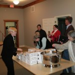 Me handing out bribes to attend the workshop - Chick-fil-A!