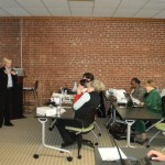 This is me teaching to 2-hour Facebook workshop at Digital Bridges