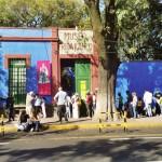 Outside Kahlo's Blue House