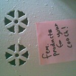 Kasia left little notes all over the apartment.