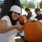 Happy Helen the pumpkin painter