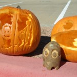 Helen's Trick or Treaters and Mark's Packman (w/ goblin potato)