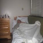 Adam can sleep anywhere