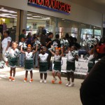 It was one of those events where the pee-wee cheerleaders did their thing. Cutie pies.