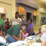 Digital Bridges set up a table at the Milledgeville Mall Career Fair. Our candy was a hit!