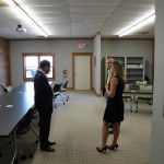 Heather Holder giving a tour of the Knight Community Innovation Center.