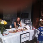 Katie Hanna trying to tempt the kids with some candy. I miss her!