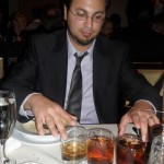 Jason order three whiskeys and then played the glasses. Gotta love open bar!