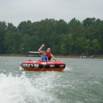 Whit and Adam tubing