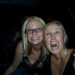 Julia and Me Rocking in the Limo (my first and only limo)