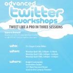 Advanced Twitter Workshops held by Ginger Carter Miller