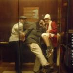 & antics in the elevator...