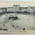 """August 11th Postcard – Brest """"La Place du Champ de Bataille"""