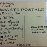 August 12th Post­card – Brest to Brest Poem