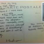 August 15th Postcard – Longlegged Sailor Poem