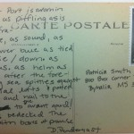 August 16th Post­card – L'avant-Port poem