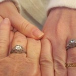 My ring and Mom's ring