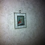 Paul and I bought a miniature French painting for his dad