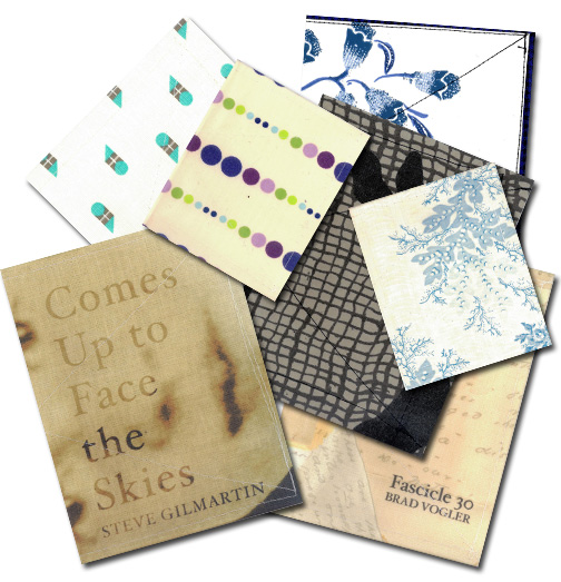 Spring 2013 Textile Series chapbooks sewn by yours truly