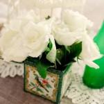 Decor: Tea Tins with Flowers