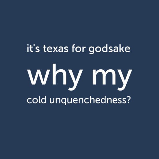 it's texas for godsake