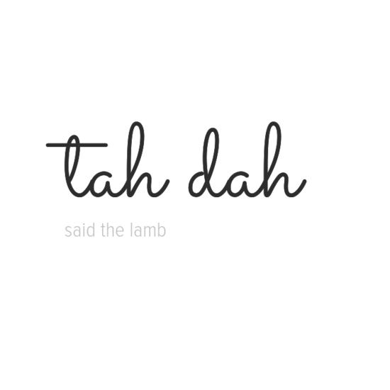 said the lamb